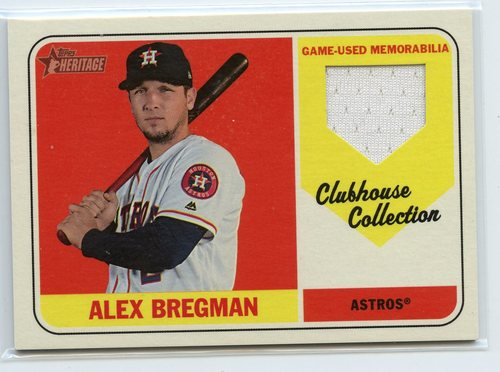 Photo of 2018 Topps Heritage Clubhouse Collection Relics #CCRABR Alex Bregman HN