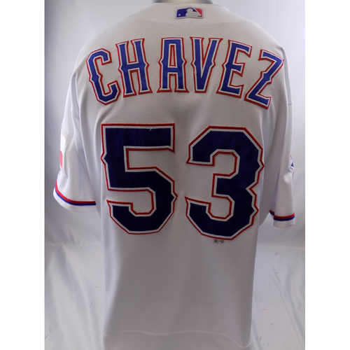Photo of White Game-Used Jersey - Jesse Chavez - 5/18/19