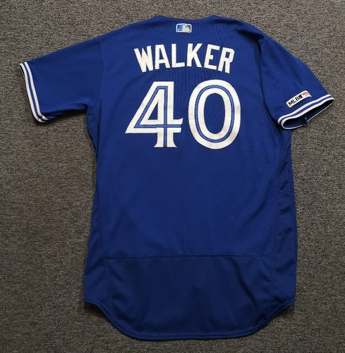 Photo of Authenticated Game Used Jersey - #40 Pete Walker (Mar 30, 19. Jul 27, 19). Size 46.