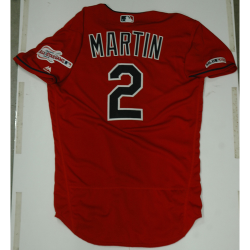 Photo of Leonys Martin 2019 Team Issued Alternate Home Jersey