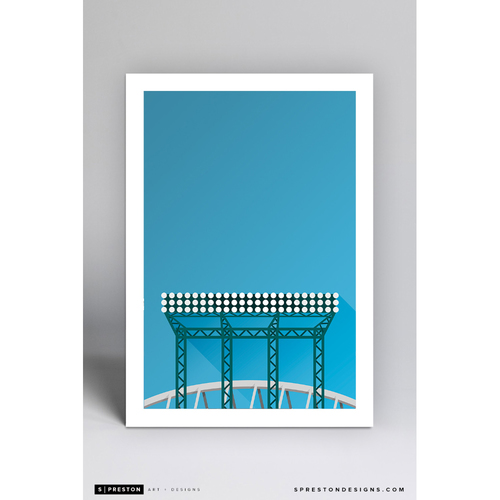 Photo of Safeco Field - Minimalist Ballpark Art Print by S. Preston  - Seattle Mariners