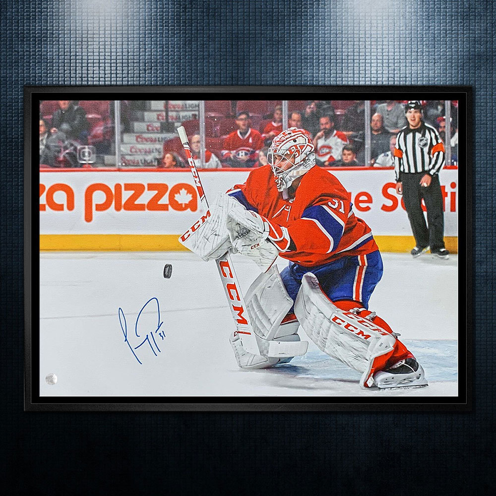 Carey Price Montreal Canadiens Autographed 20x29 Canvas Frame