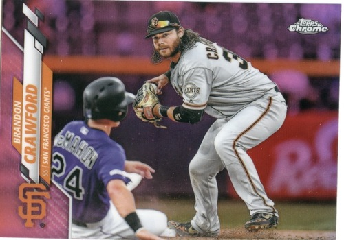 Photo of 2020 Topps Chrome Pink Refractors #88 Brandon Crawford