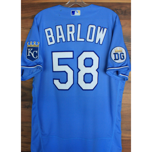 Photo of Alex's Lemonade Stand Foundation: Game-Used Scott Barlow Jersey (Size 46 - 9/26/20 DET @ KC)
