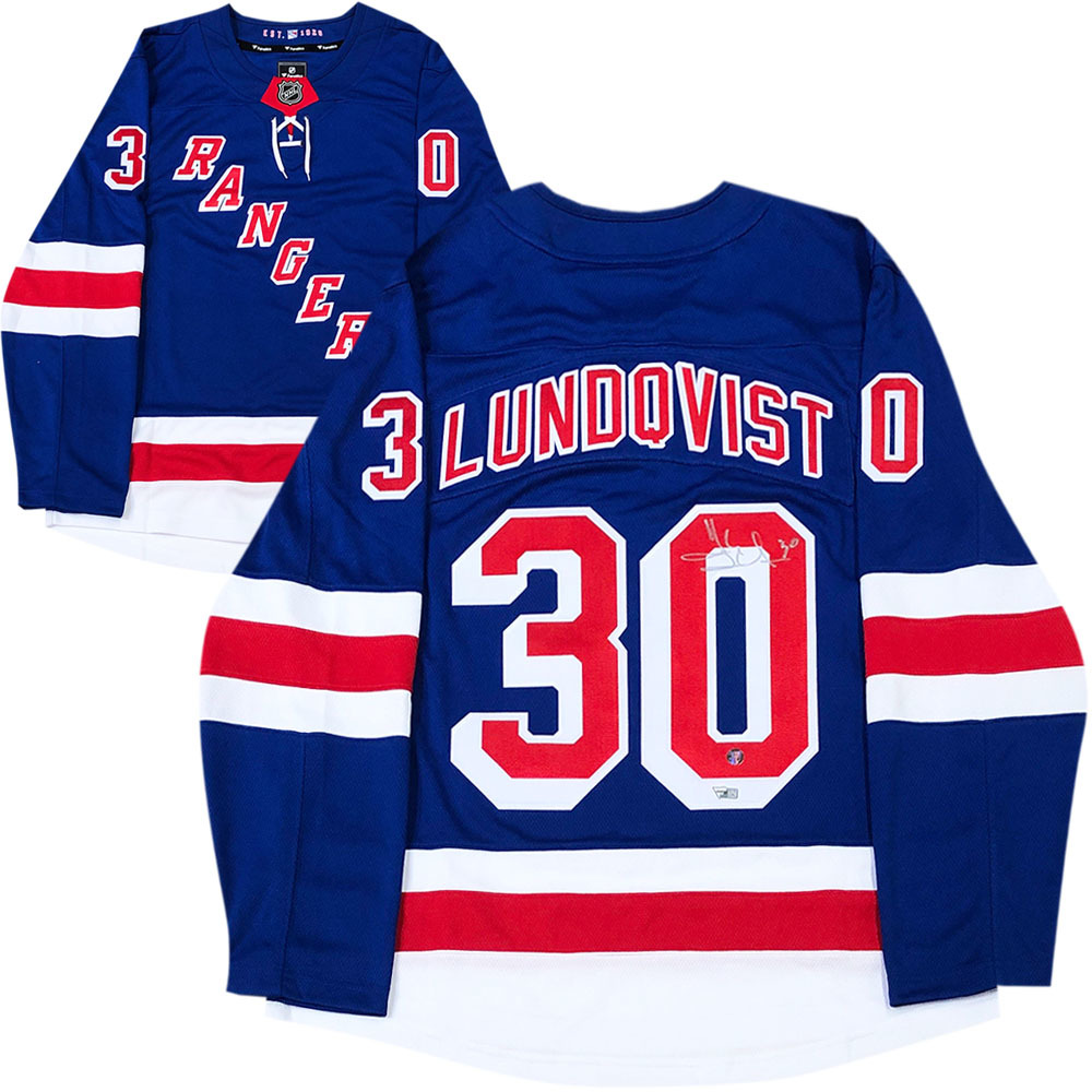 Henrik Lundqvist Autographed New York Rangers Jersey - Fanatics Authenticated