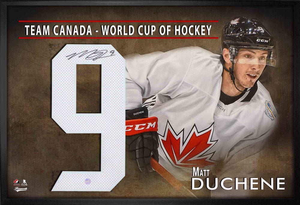 Mat Duchene Signed Framed Team Canada World Cup Jersey Number