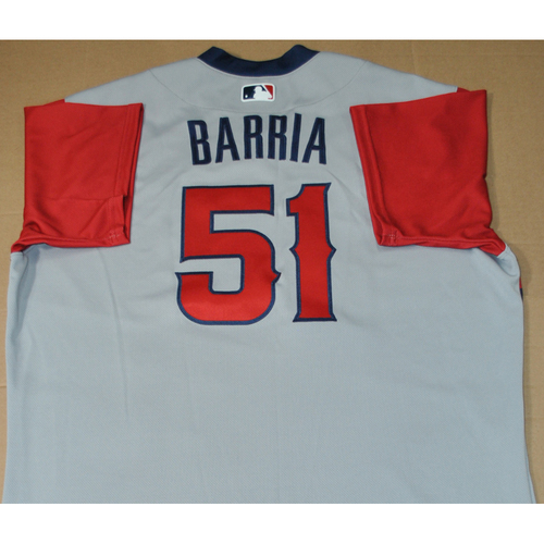 Photo of Game-used Jersey - 2021 Little League Classic - Los Angeles Angels vs. Cleveland Indians - 8/22/2021 - West, Jaime Barria #51