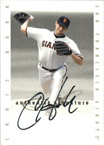 Photo of 1996 Leaf Signature Extended Autographs #82 Chris Hook