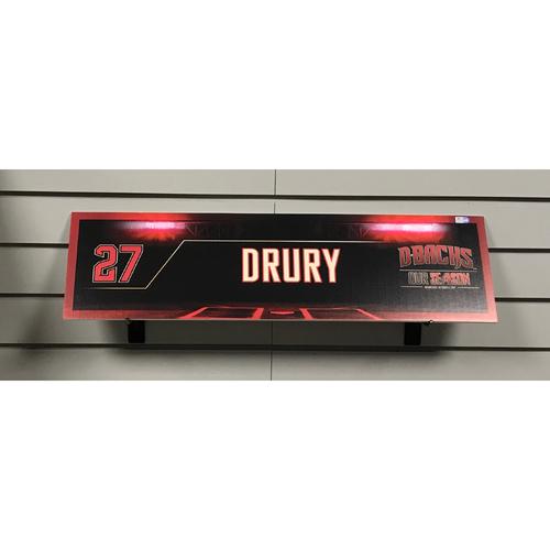 2017 NL Wild Card Brandon Drury Game-Used Locker Nameplate