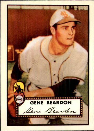 Photo of 1983 Topps 1952 Reprint #229 Gene Bearden UER/Misspelled Beardon