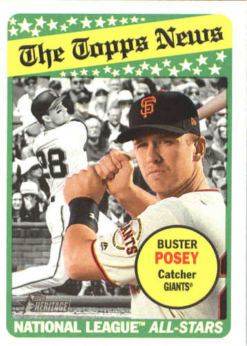 Photo of 2018 Topps Heritage #235 Buster Posey