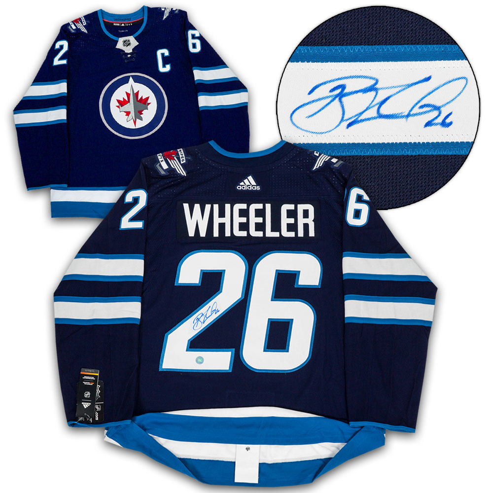 Blake Wheeler Winnipeg Jets Autographed Blue Adidas Authentic Hockey Jersey