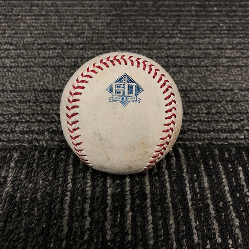 Photo of 2018 San Francisco Giants Game Used Baseball - SF vs. ATL on 9/10/18 - T-1: Dereck Rodriguez to Ronald Acuna Jr. - Ground Out to 3rd Base - Ronald Acuna Jr. 2018 National League Rookie of the Year