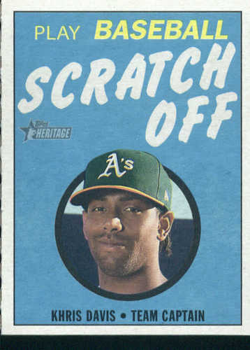 Photo of 2019 Topps Heritage '70 Topps Scratch Offs #3 Khris Davis