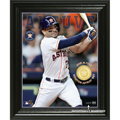 "Photo of Serial #1! Jose Altuve ""Elite Series"" Bronze Coin Photo Mint"
