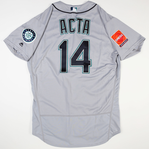 Photo of 2019 Japan Opening Day Series - Game Used Jersey - Manny Acta, Seattle Mariners at Oakland Athletics -3/18/2019 , 3/20/2019