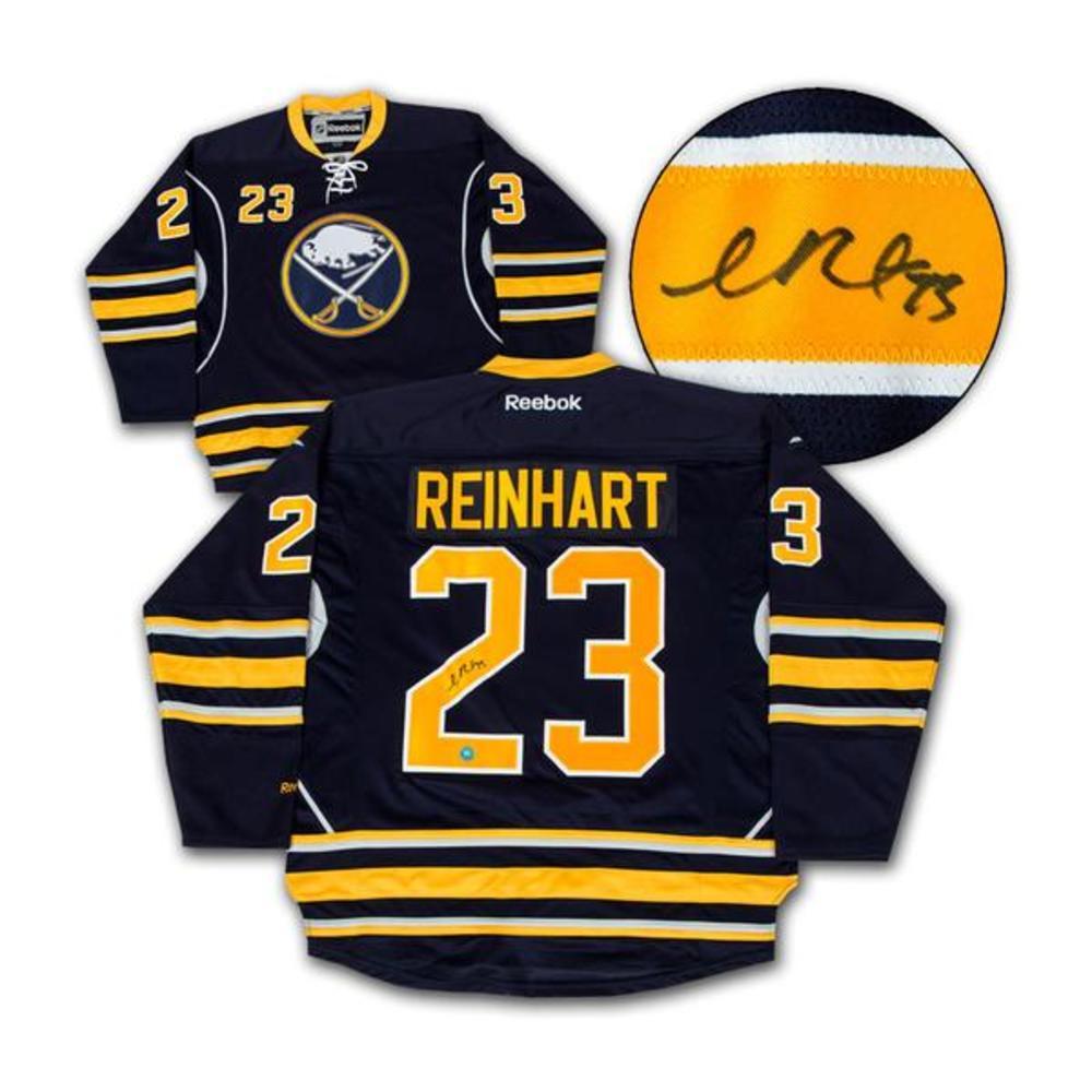 Sam Reinhart Buffalo Sabres Autographed Rookie Reebok Hockey Jersey - Size Med