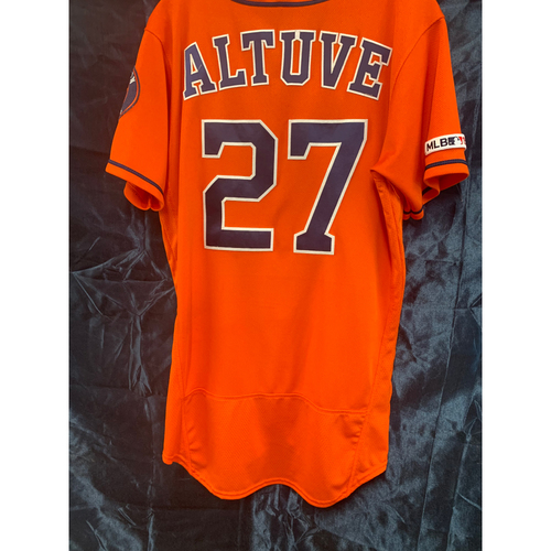 2019 Game-Used Jose Altuve Orange Alt Jersey (Size 40)