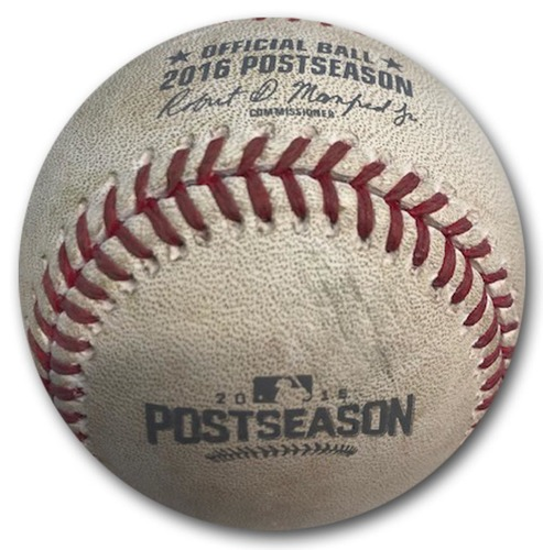 Photo of 12 Days of Auctions: Day 3 -- Game-Used Baseball -- 2016 NLDS Game 2 -- 10/8/16