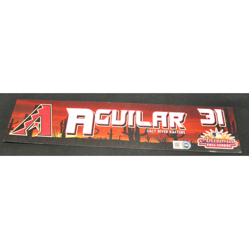 Photo of Arizona Fall League - Game-Used Locker Tag - Miguel Aguilar (ARI), Jersey Number: 31