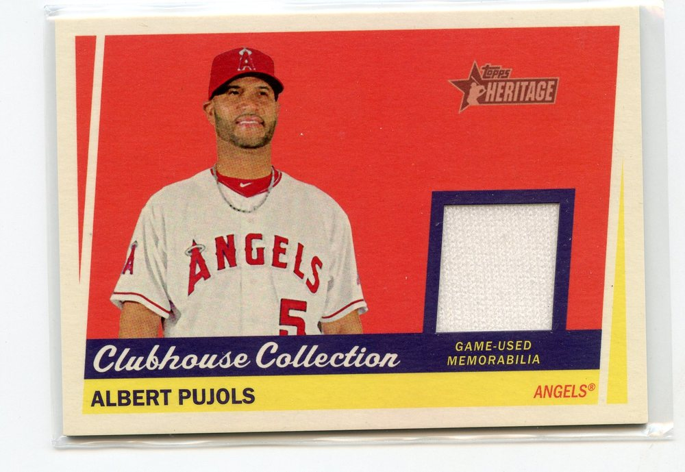 2016 Topps Heritage Clubhouse Collection Relics #CCRAPU Albert Pujols