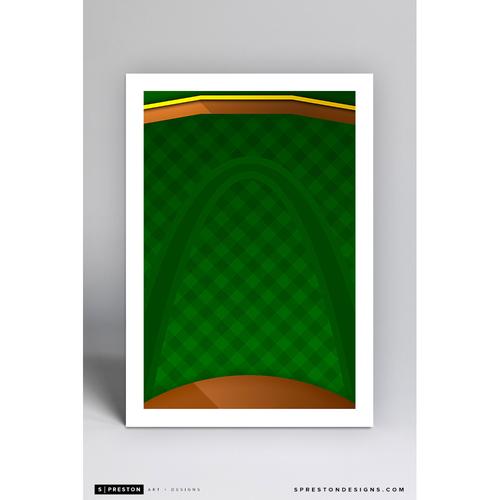 Photo of Busch Stadium - Minimalist Ballpark Art Print by S. Preston  - St. Louis Cardinals