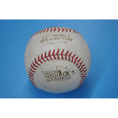 Game-Used Baseball - 2013 World Series - Game 3 - Pitcher: Brandon Workman, Batter: Yadier Molina - Fouled Back to Screen - 9th Inning