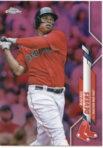 Photo of 2020 Topps Chrome Pink Refractors #93 Rafael Devers
