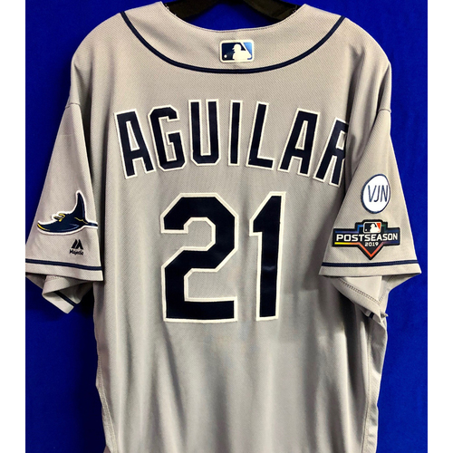 Photo of Team Issued Postseason Road Gray Jersey: Jesus Aguilar - 2019