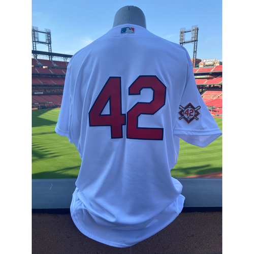 Photo of Cardinals Authentics: Team Issued Giovanny Gallegos Jackie Robinson Day Jersey