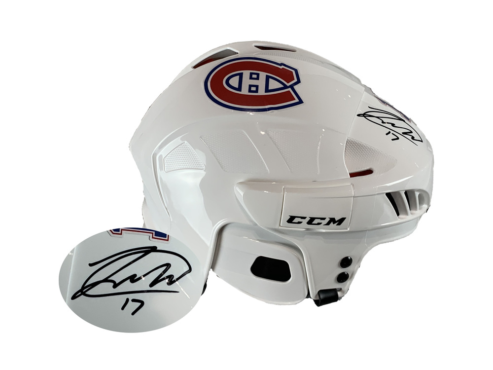 Josh Anderson Signed Helmet CCM White