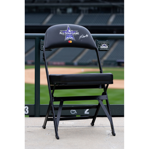 Photo of 2021 Celebrity Softball Game Autographed On Field Chair - Josh Richards