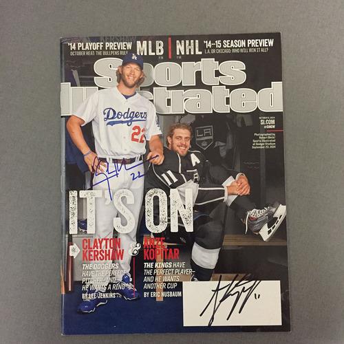 LA Dodgers Foundation Auction: Clayton Kershaw and LA Kings Anze Kopitar Autographed SI Magazine
