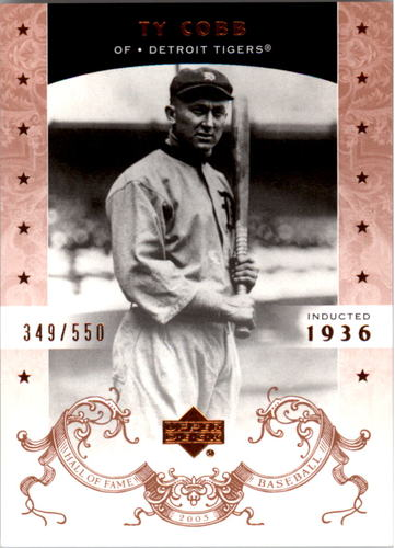 Photo of 2005 Upper Deck Hall of Fame #81 Ty Cobb