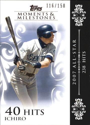 Photo of 2008 Topps Moments and Milestones #63-40 Ichiro Suzuki