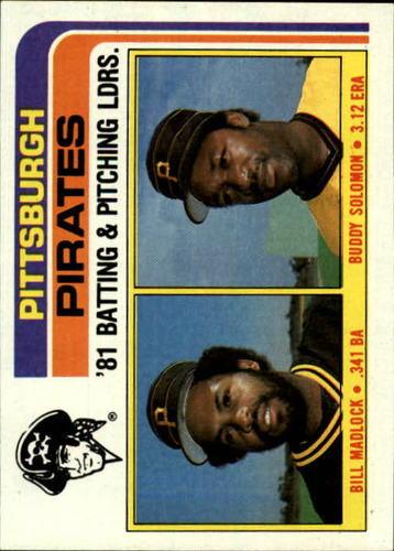 Photo of 1982 Topps #696 Bill Madlock/Eddie Solomon TL