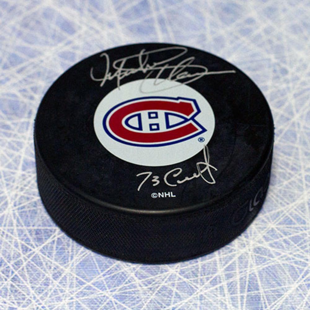 Michel Plasse Montreal Canadiens Autographed Hockey Puck