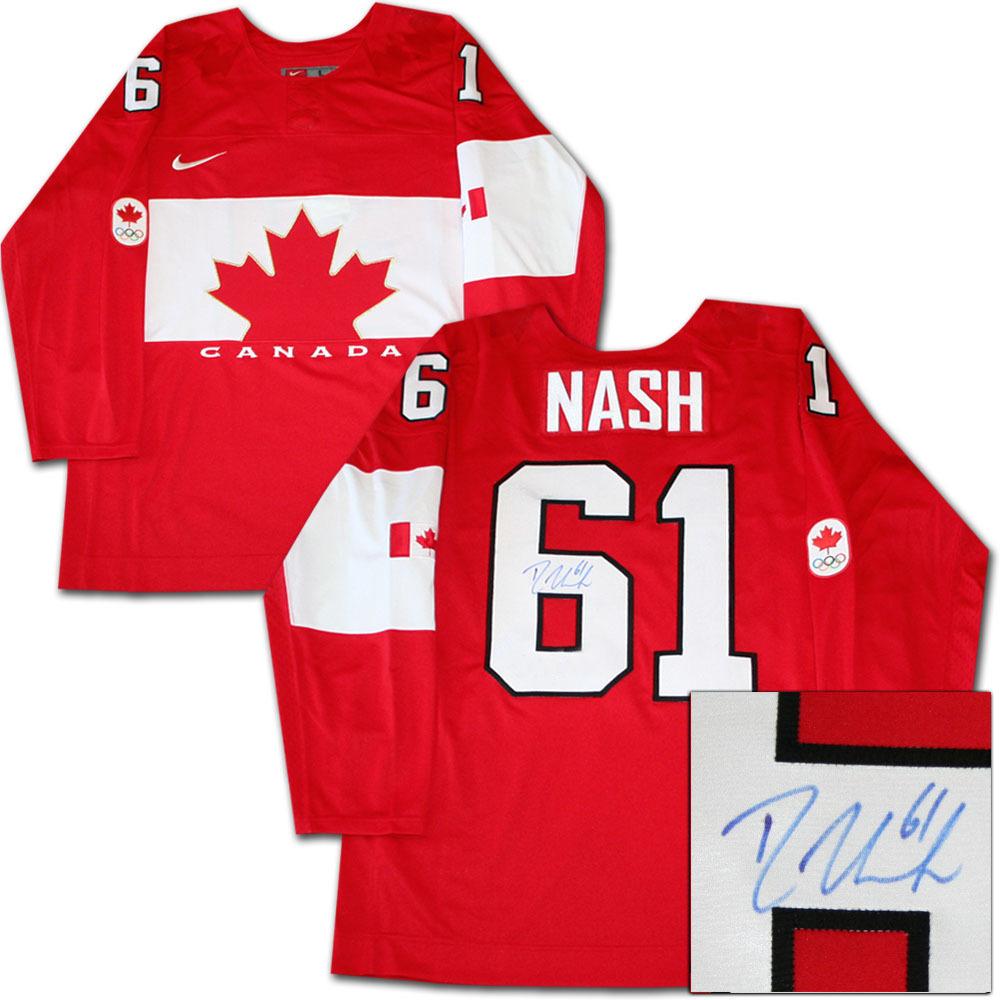 Rick Nash Autographed 2014 Team Canada Jersey (New York Rangers)