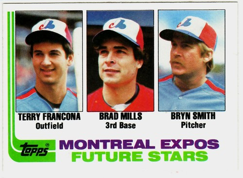 Photo of 1982 Topps #118 Terry Francona RC/Brad Mills RC/Bryn Smith Rookie Card