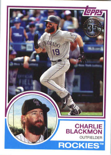 Photo of 2018 Topps '83 Topps #8327 Charlie Blackmon