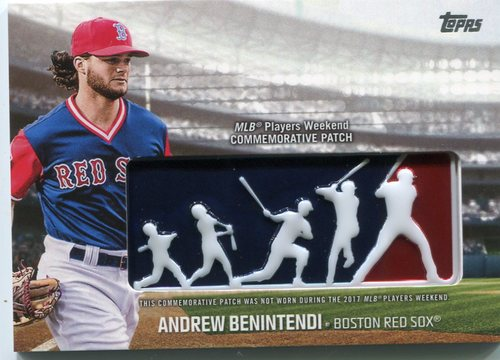Photo of 2018 Topps Players Weekend Patches #PWPABN Andrew Benintendi