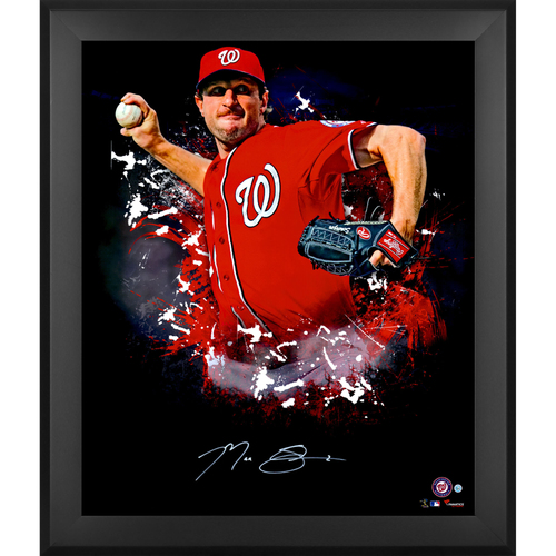 "Photo of Max Scherzer Washington Nationals Framed Autographed 20"" x 24"" In Focus Photo"
