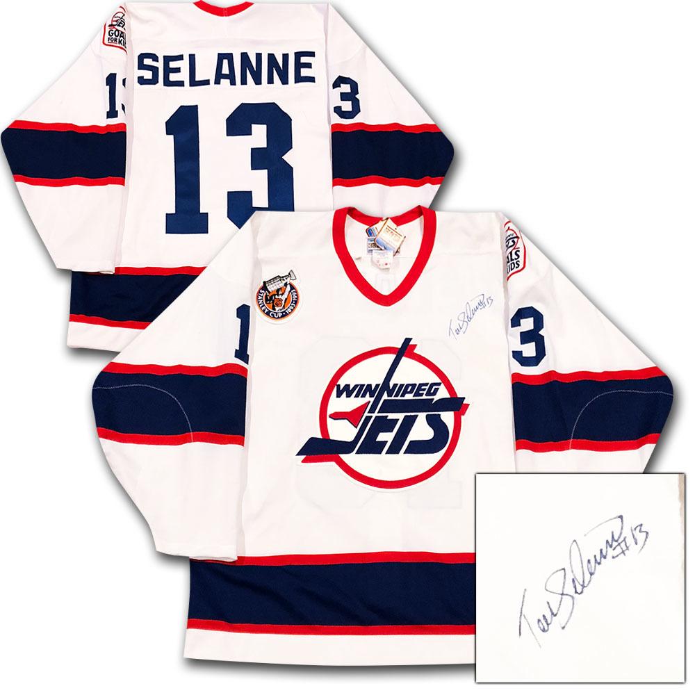 buy online f118e c1e15 Teemu Selanne Autographed Winnipeg Jets Vintage CCM Pro ...