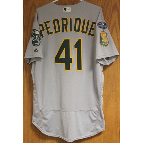 Photo of Game-Used Al Pedrique 2018 Jersey
