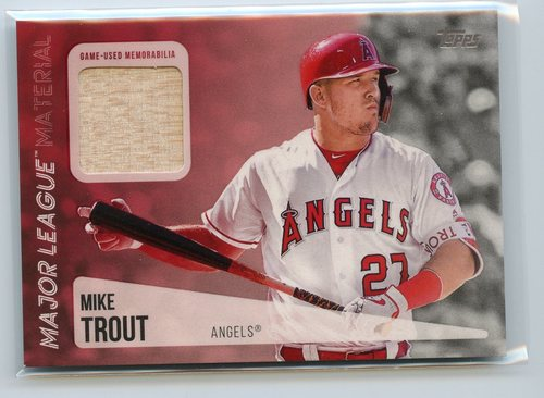 Photo of 2019 Topps Major League Materials  Mike Trout