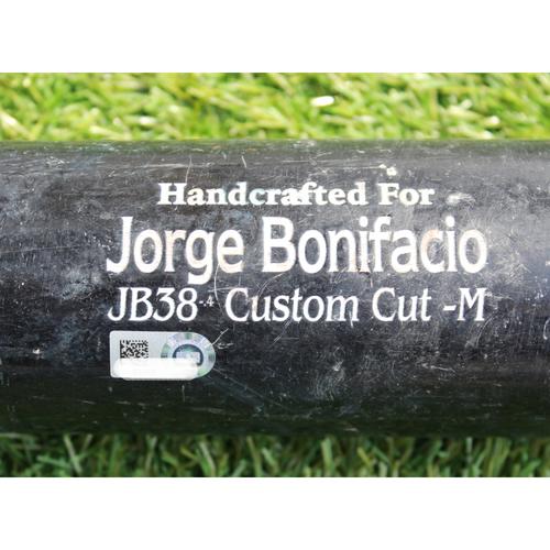 Team-Issued Bat: Jorge Bonifacio