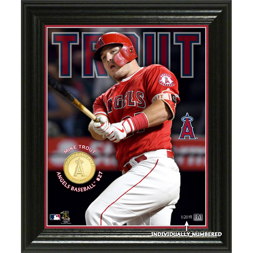 Photo of Serial #1! Mike Trout Elite Series Bronze Coin Photo Mint