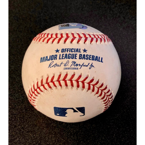 Photo of Game Used Baseball: Pitcher: Felix Hernandez, Batters: Matt Olson (Strikeout), Stephen Piscotty (Fly Out), Chad Pinder (Foul) - 9-26-2018 vs. OAK