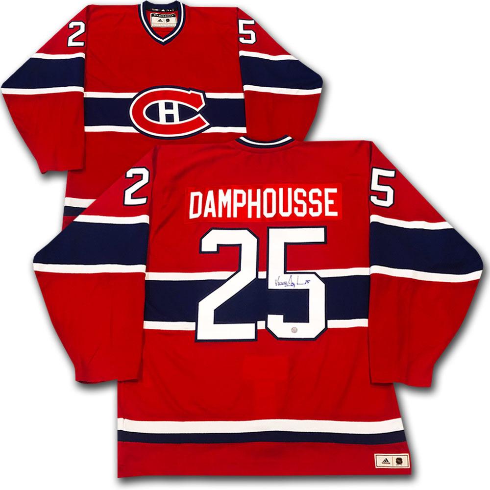 Vincent Damphousse Autographed Montreal Canadiens adidas Team Classics Authentic Vintage Jersey
