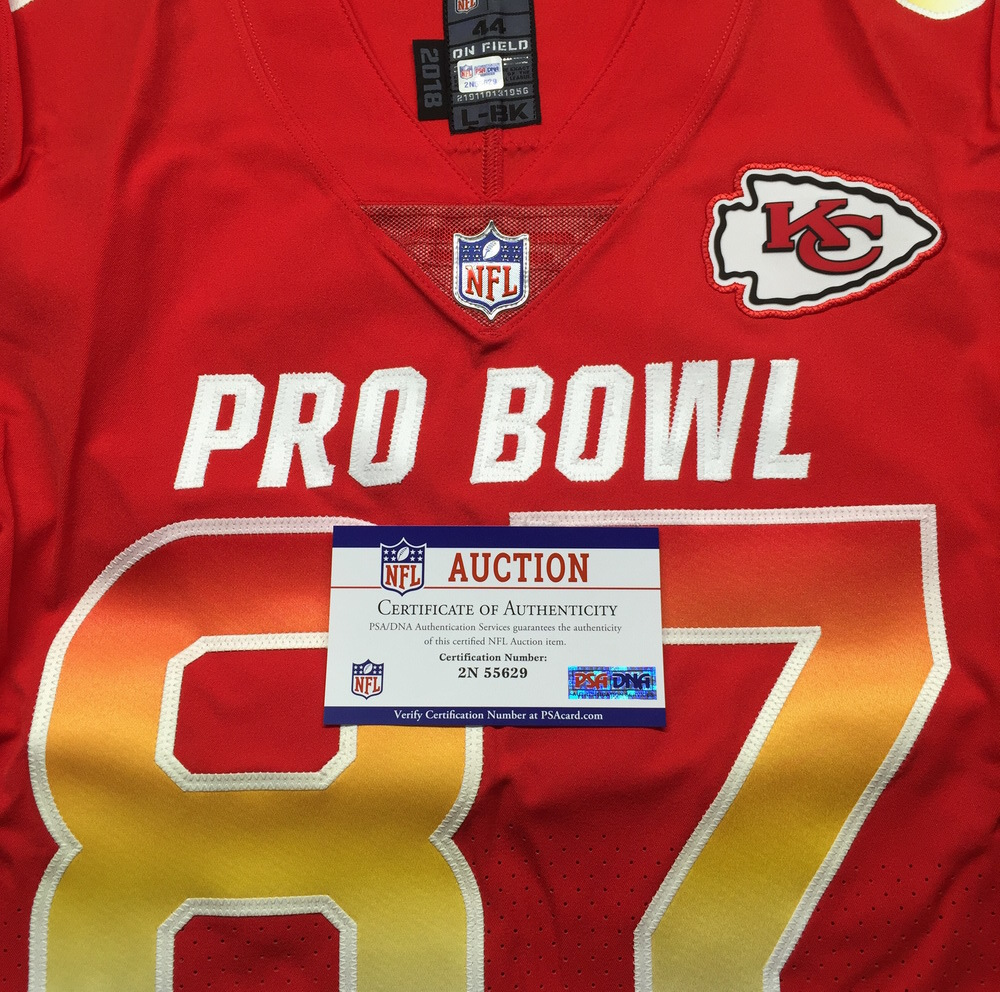 buy online 2d514 b99ce NFL Auction | NFL - Chiefs Travis Kelce Game Issued 2019 Pro ...